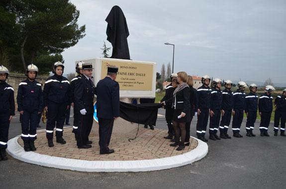 Le rond-point Capitaine Eric Dalle inauguré